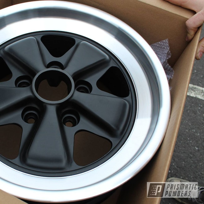 Powder Coating: Wheels,Porsche Fuchs,Automotive,BLACK JACK USS-1522,Porsche