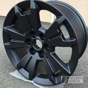 Powder Coated Matte Black Custom Rims