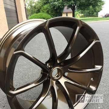 Powder Coated Bronze Custom Mclaren Wheels