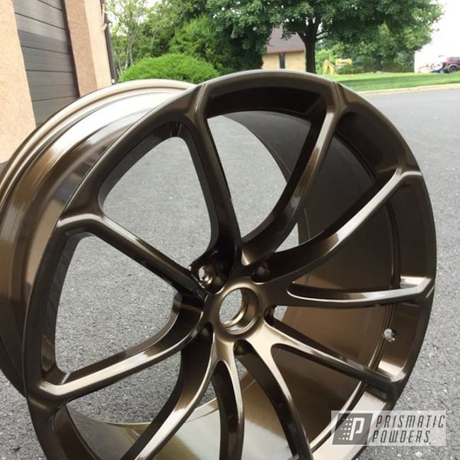 Powder Coating: Wheels,Automotive,McLaren,Sports Car,Bronze Chrome PMB-4124,Super Car