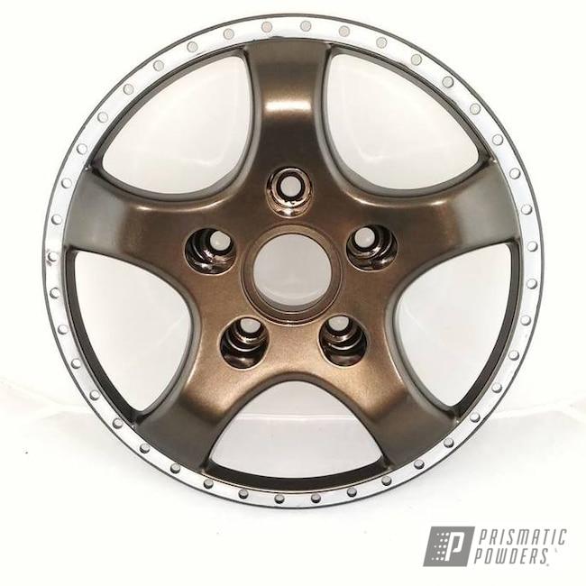Powder Coating: Wheels,Automotive,Bronze Chrome PMB-4124,Two Piece Wheel