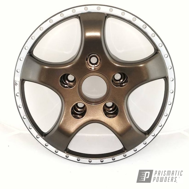 Powder Coating: Wheels,Automotive,Bronze Chrome PMB-4124,Two Piece Wheel