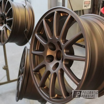 Powder Coated Bronze Matte Wheels