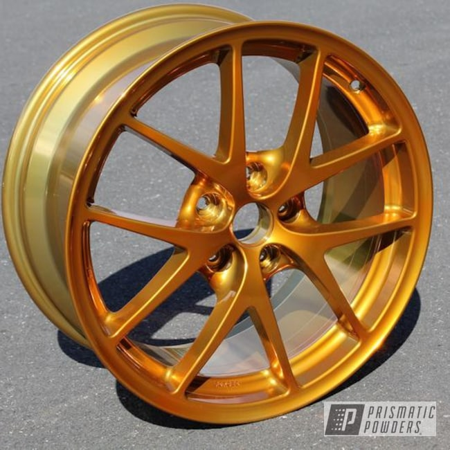 Custom Wheel done in Heavy Silver and Transparent Gold ...