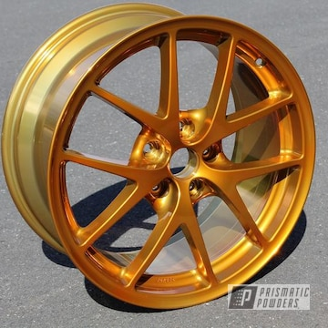 Powder Coated Gold Custom Wheel