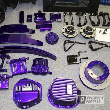 Powder Coated Candy Purple Custom Truck Parts