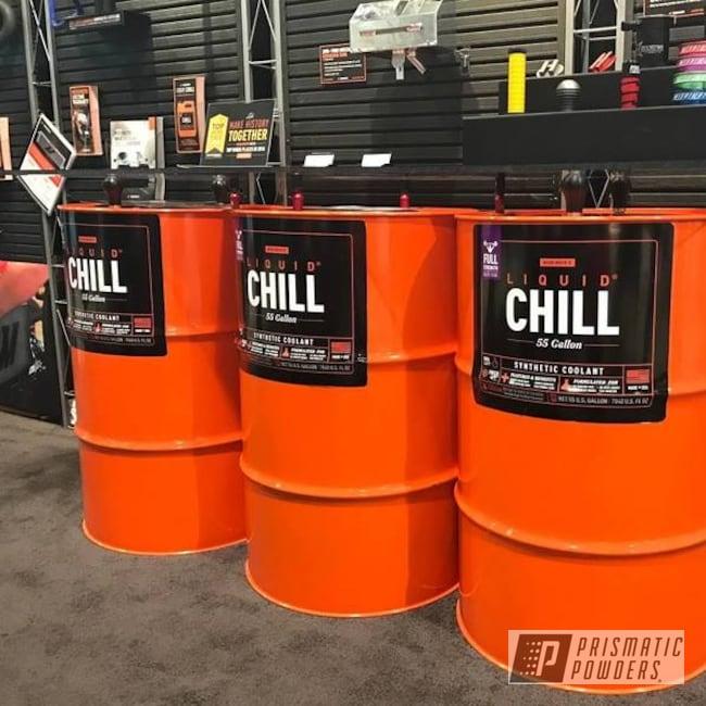 Powder Coating: RAL 2009 RAL-2009,Custom Powder Coating,SEMA,Mishimoto,Booth Display,Liquid Chill,Miscellaneous