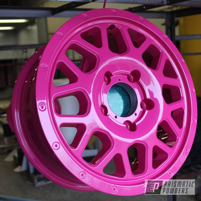 Powder Coating: Wheels,T-Mobile Vehicles,Automotive,Color Matched Wheels,Custom Wheels,Cell Phone Provider,RAL 4010 RAL-4010