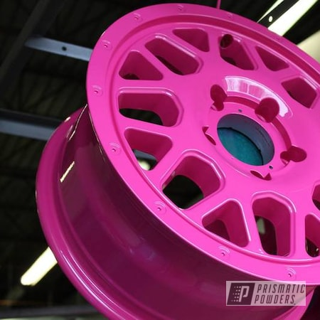 Powder Coating: Wheels,T-Mobile Vehicles,Automotive,Color Matched Wheels,Custom Wheels,Cell Phone Provider,RAL 4010 Telemagenta