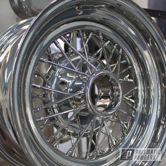 Powder Coating: Wheels,Automotive,SUPER CHROME USS-4482,Powder Coated Rims,Steel Wire Wheels