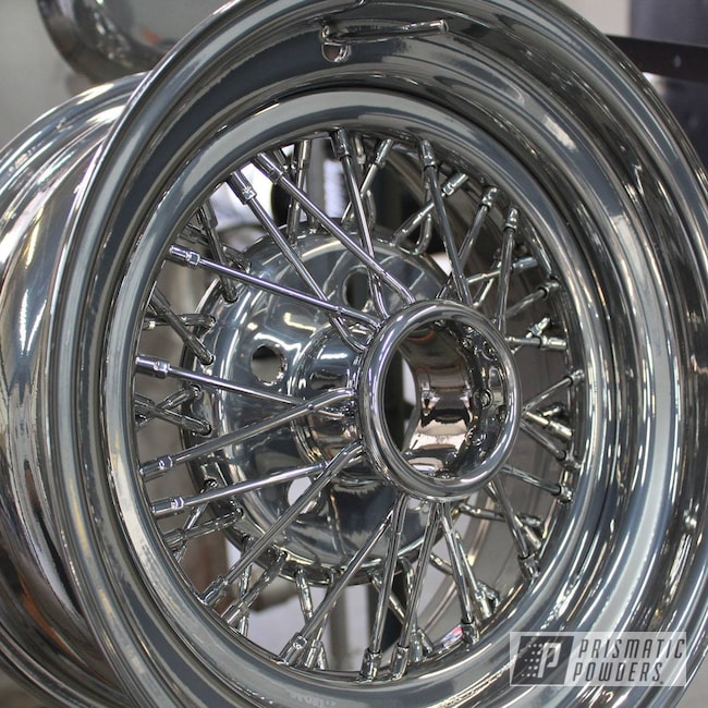 Powder Coating: Wheels,Automotive,SUPER CHROME USS-4482,Powder Coated Rims,Steel Wire Wheels