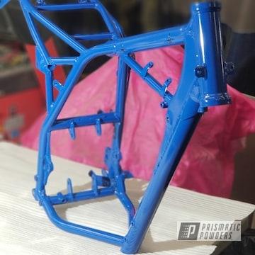 Powder Coated Blue Suzuki Motorcycle Frame