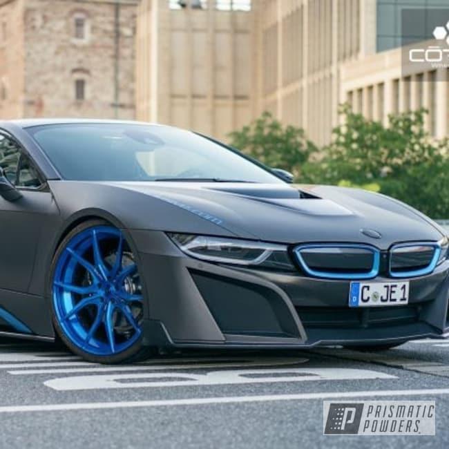 "Powder Coating: Wheels,18"",Automotive,Aluminum Wheel,Blue Twilight PPB-5116,Aluminum Rims,LOLLYPOP BLUE UPS-2502,BMW,18"" Wheels,Satin Aluminum,Intense Blue PPB-4474"