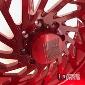 Powder Coated Red Cor Wheels