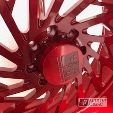 Powder Coated Red Cor Wheels