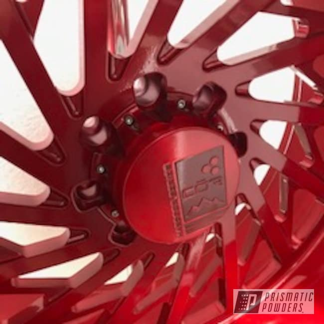 Powder Coating: Wheels,Automotive,Forged,LOLLYPOP RED UPS-1506,Cor Wheels