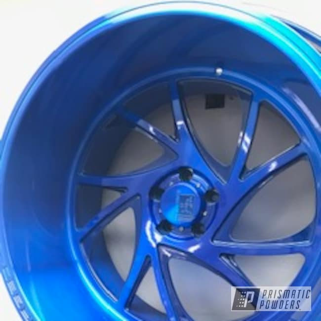 Powder Coating: Wheels,Automotive,Peeka Blue PPS-4351