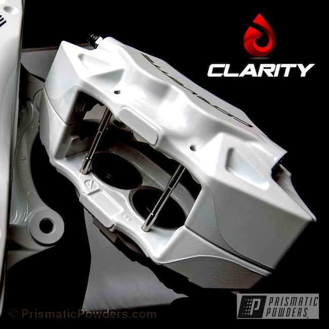 Powder Coating: Automotive,Clear Vision PPS-2974,Brake Calipers,Polar White PSS-5053,C7 Corvette Calipers,Corvette,Powder Coated Automotive Parts
