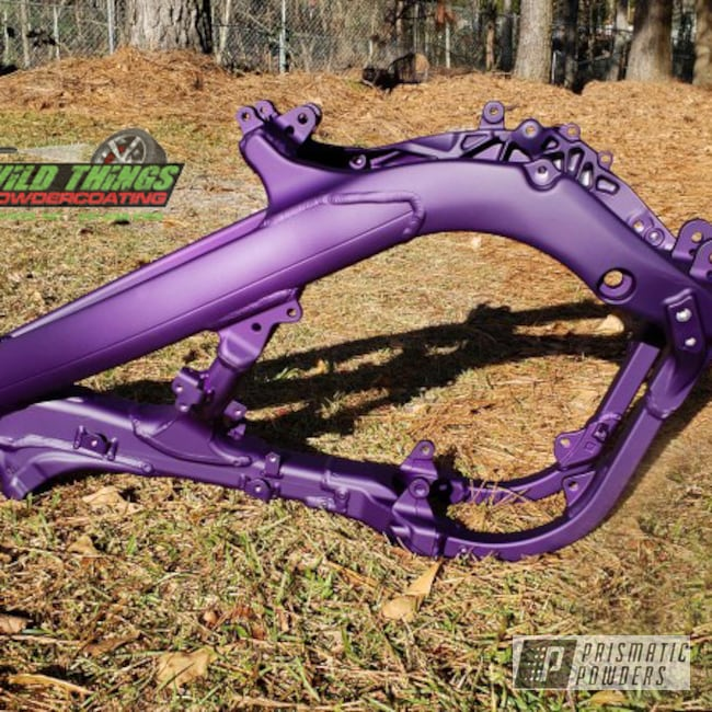 Powder Coating: Illusion Purple PSB-4629,Motorcycle Frame,Motorcycles,Casper Clear PPS-4005,Matte Purple