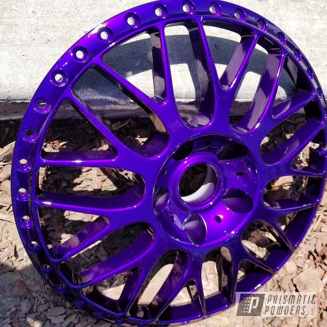 Powder Coating: Illusion Purple PSB-4629,Wheels,Automotive,Clear Vision PPS-2974,Centers,Wheel Centers