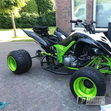 Powder Coated Transparent Neon Yellow Yamaha Atv