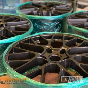 Powder Coated Bronze Custom Wheels