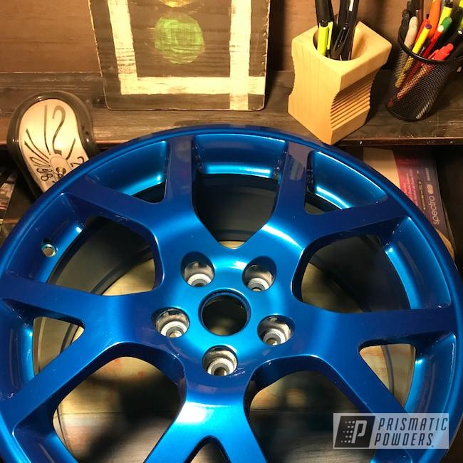 "Powder Coating: Wheels,Automotive,18"",SUPER CHROME USS-4482,Aluminium Wheels,18"" Wheels,Archery Blue PPB-1342"