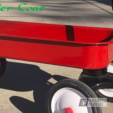Powder Coated Red Wagon Restoration