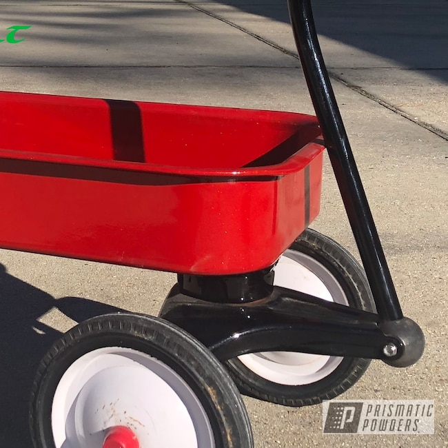 Powder Coating: Shattered Glass PPB-5583,wagon,Ink Black PSS-0106,Wagon Restoration,Kids Toys,Very Red PSS-4971,Powder Coated Wagon