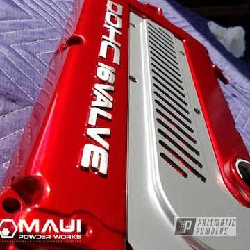 Powder Coated Red Honda Dohc Valve Cover