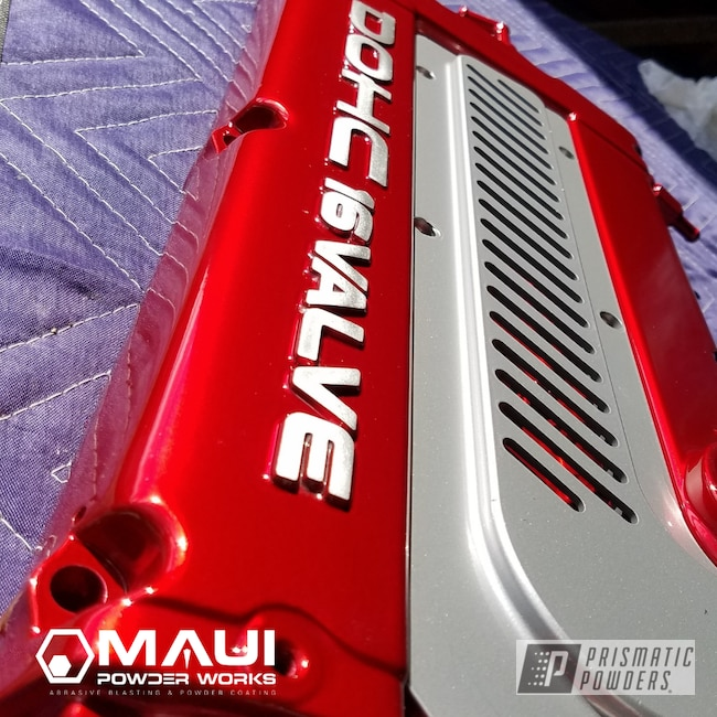 Powder Coating: Automotive,LOLLYPOP RED UPS-1506,Civic,Red,Honda,DOHC,Valve Cover,Lollypop