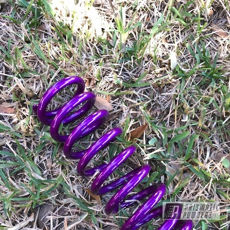 Powder Coating: Clear Vision PPS-2974,Motorcycle Parts,DRZ,shock,Suzuki,Motorcycles,Illusion Violet PSS-4514,Custom Rear Shock