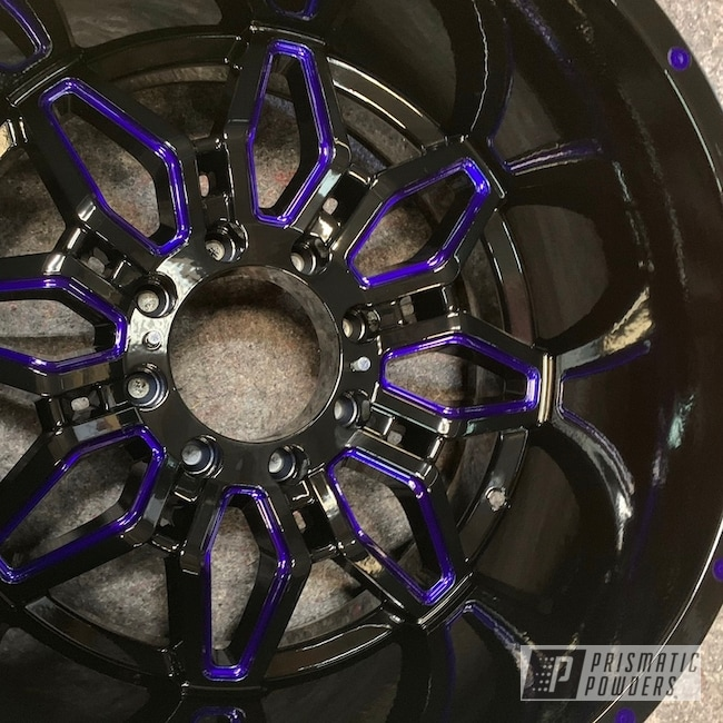 "Powder Coating: Wheels,Automotive,Clear Vision PPS-2974,SUPER CHROME USS-4482,Multi Stage Application,Ink Black PSS-0106,22"" Wheels,22"",Intense Blue PPB-4474"