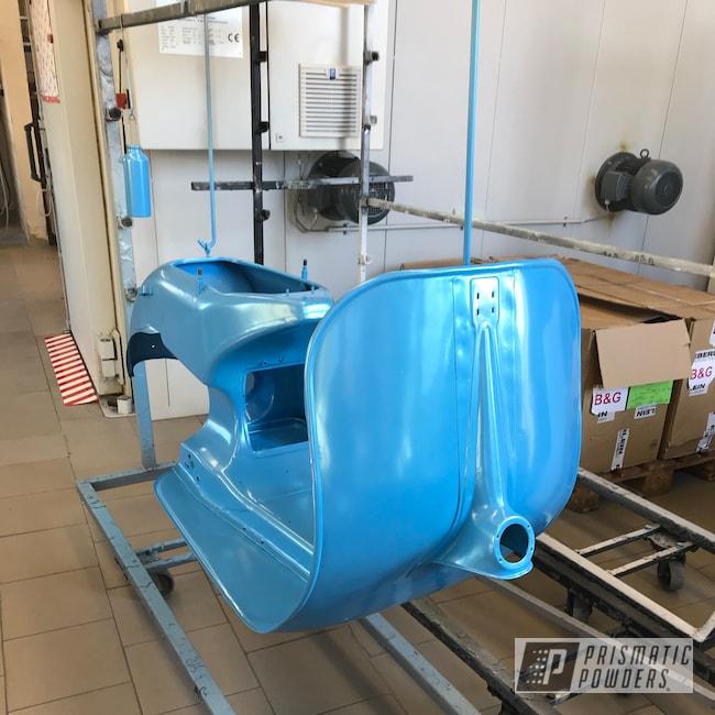 Powder Coating: Wide Frame,Emerald Sky Blue PMB-8019,Hofmann,Vespa,50cc