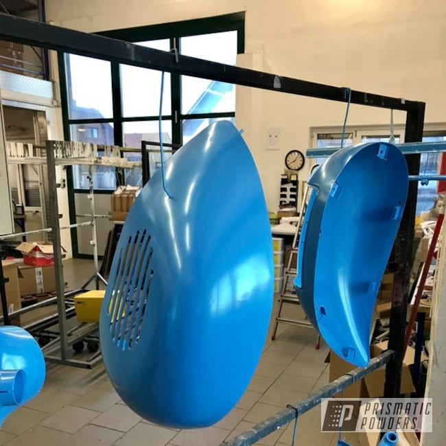 Powder Coating: Wide Frame,Emerald Sky Blue PMB-8019,Hofmann,Vespa,50cc