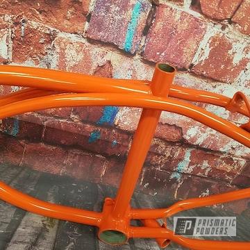 Powder Coated Orange Custom Bicycle Frame