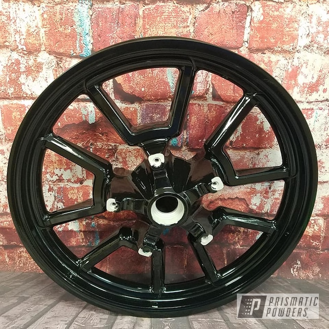 Powder Coating: Harley Davidson,Harley Wheel,Ink Black PSS-0106,Aluminum Rims,Motorcycle Wheels,Motorcycles