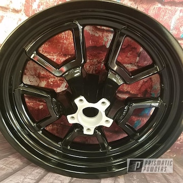 Powder Coated Black Harley Davidson Wheels