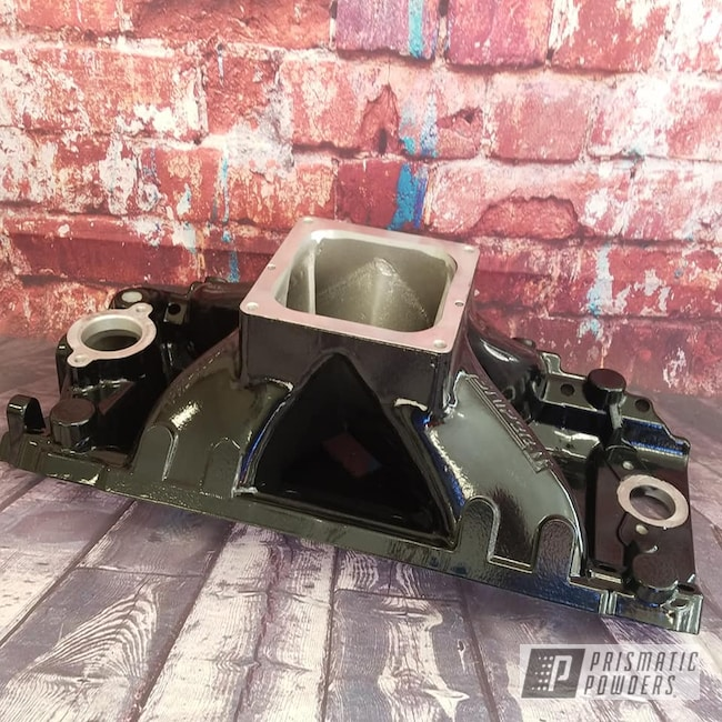 Powder Coating: Intake Manifold,Automotive,Ink Black PSS-0106,Automotive Parts