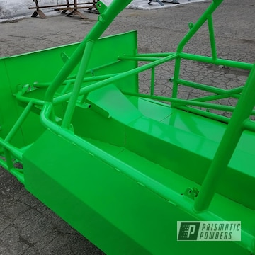 Powder Coated Green Race Car Chassis