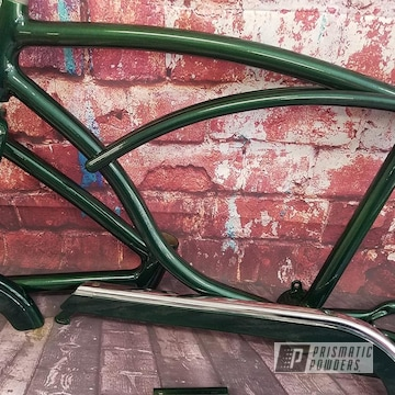 Powder Coated Greenish Bicycle Frame