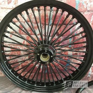 Powder Coated Black Spoked Harley Davision Wheel