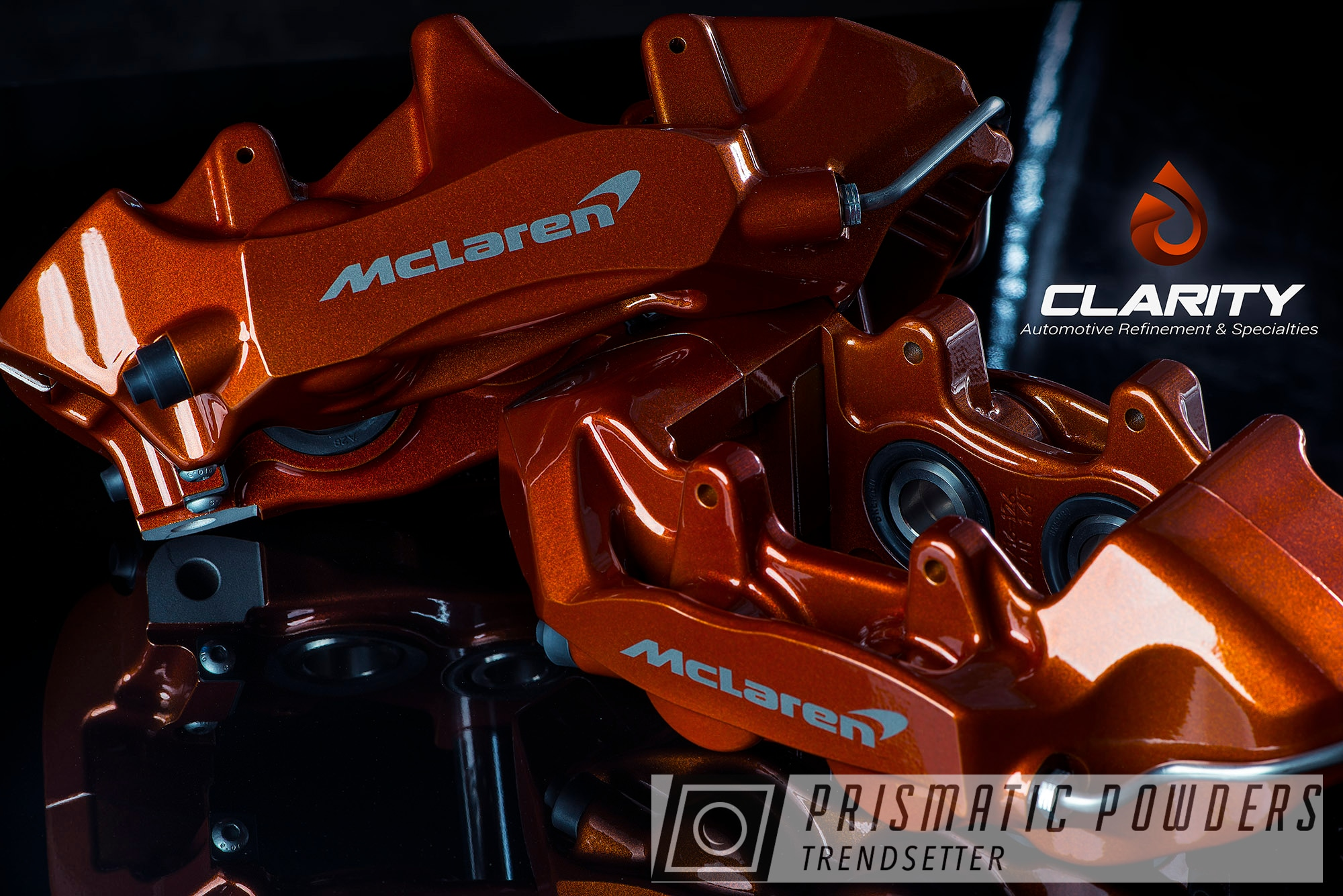 Powder Coating: Automotive,McLaren,Clear Vision PPS-2974,Brakes,Brake Calipers,apracing,720S,Illusion Rootbeer PMB-6924