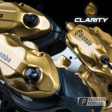 Powder Coated Gold Dodge Brembo Brake Calipers