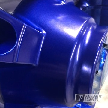 Powder Coated Blue Harley Motorcycle Wheels