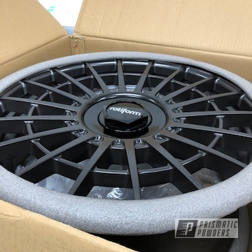 "Powder Coated Black 19"" Rotiform Wheels"