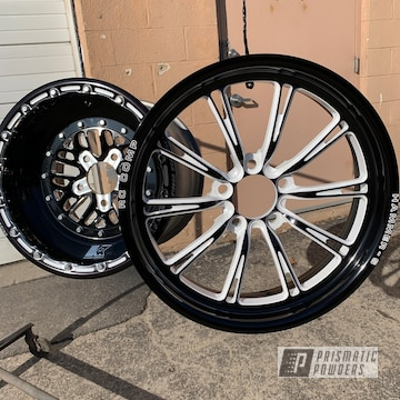 Powder Coated Black And White Rc Components Wheels