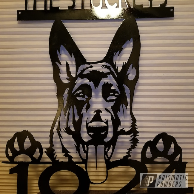 Powder Coating: Ink Black PSS-0106,Art,Miscellaneous,Metal Sign,Steel Sign