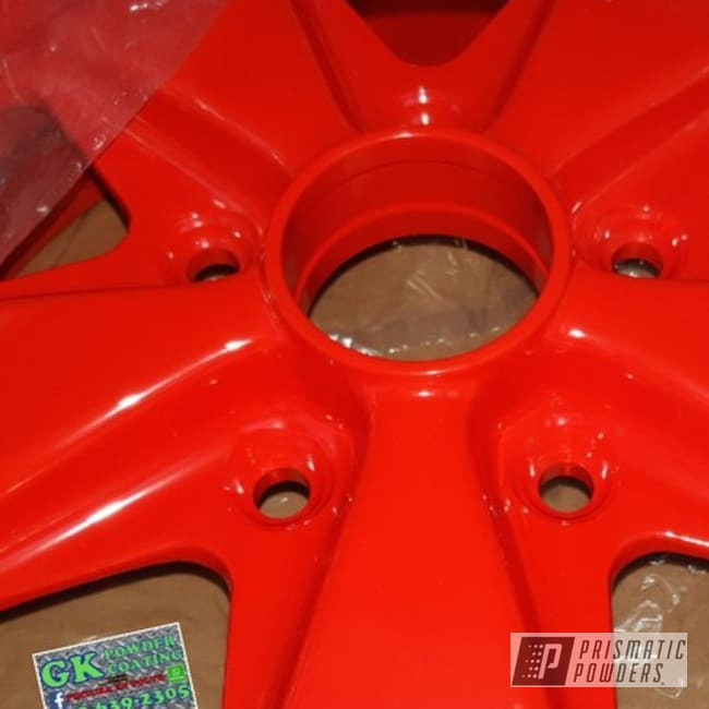Powder Coating: Wheels,Automotive,Porsche,RAL 3020 RAL-3020