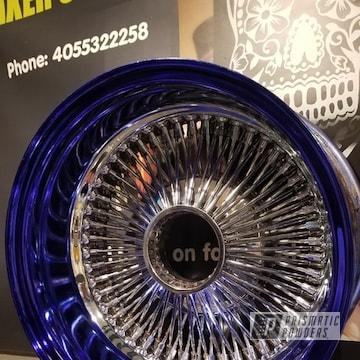 Powder Coated Blue 24 Inch Wheels